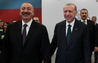 """ALİYEV: """"BU DEV YATIRIMIN AZERBAYCAN VE TÜRKİYE KARDEŞLİK TARİHİNDE ÖNEMLİ YERİ VAR"""""""