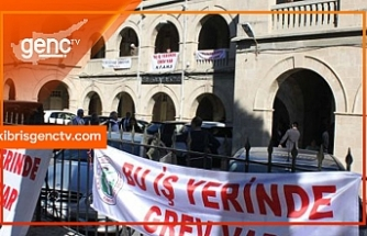 KTAMS ve Kamu-İş bugün Girne'de grevde