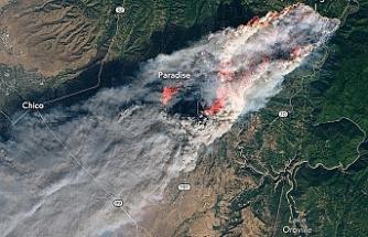 NASA yangınları uzaydan görüntüledi