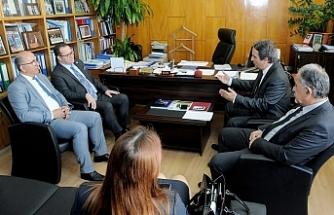 Ödül Muhtaroğlu, Kıbrıs Türk Ticaret Odası heyetini kabul etti