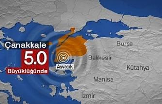 Çanakkale Ayvacık açıklarında 5,0 büyüklüğünde deprem oldu