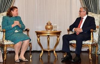Mustafa Akıncı, Avusturya Büyükelçisi Eva Maria Ziegler'i kabul ederek görüştü