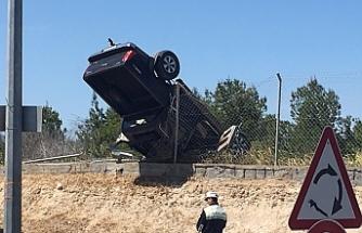 Lefkoşa'da dehşete düşüren trafik kazası