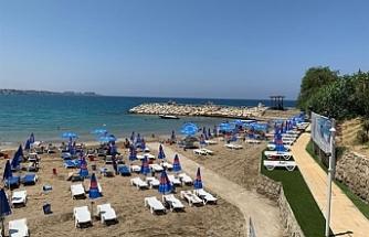 Kervansaray Plajı faaliyete başladı