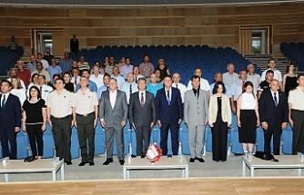 Halk örgütü kadrolarında görevli mükelleflere hizmet belgeleri takdim edildi