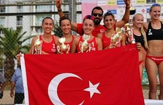 Merve'nin de yer aldığı Türkiye takımı ikinci oldu