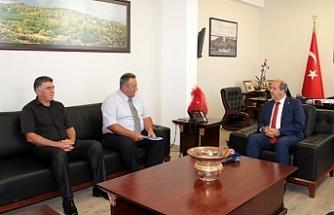 Tatar, Kıbrıs Türk Polis Mensupları Derneği Başkanı Yusuf Zeki Turan ve Yönetim Kurulu üyelerini kabul etti.