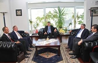 Üstel'den Ankara Büyükelçiliği'ne ziyaret