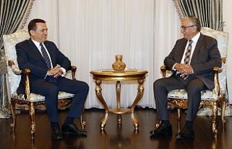 Akıncı, Mersin Yenişehir Belediye Başkanını kabul etti