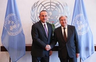Çavuşoğlu, Guterres ile görüştü, Kıbrıs da gündeme geldi
