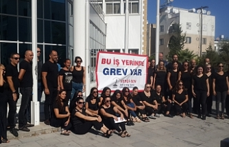 Girne'de Vergi Dairesi ile Trafik Dairesinde grev