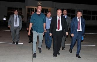Başbakan Mersin'e gitmek üzere KKTC'den ayrıldı