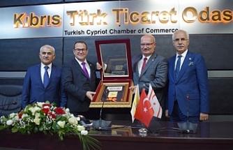 Ankara Ticaret Odası (ATO) heyeti, Kıbrıs Türk Ticaret Odası'nı (KTTO) ziyaret etti