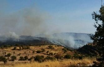 Baf'ın eski Türk köyünde yangın