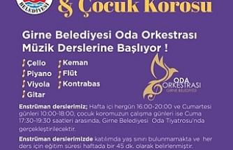 Girne Belediyesi Oda Orkestrası'ndan müzik dersleri