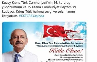 Kılıçdaroğlu, KKTC'nin kuruluş yıl dönümünü kutladı