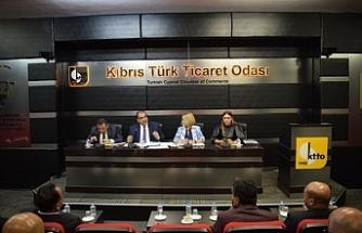 Sucuoğlu, Kıbrıs Türk Ticaret odası üyeleriyle bir araya geldi çalışma yaşamı ile ilgili bilgiler verdi