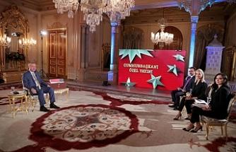 Erdoğan, Doğu Akdeniz'de yaşanan gelişmeleri canlı yayında değerlendirdi