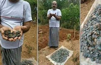 Lotodan kazandığı parayla aldığı arazide define buldu
