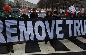 Amerika'da kadınlar Trump yönetimine karşı yürüdü
