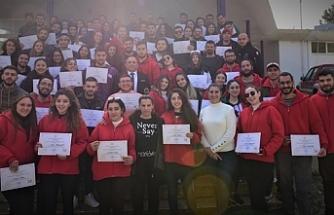 Gençlik Kampı katılımcılarına sertifika