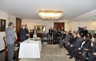 Dereceye girenlere ödülleri Cumhurbaşkanlığı'nda verildi