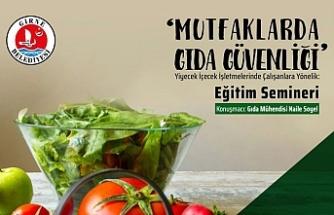 """Girne'de """"Mutfaklarda Gıda Güvenliği"""" semineri verilecek"""
