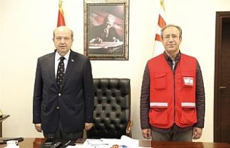 Başbakan Tatar, Kızılay yardımları konusunda bilgi aldı