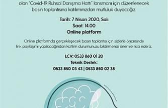 """""""Covid-19 Ruhsal Danışma Hattı"""" faaliyete geçirildi"""