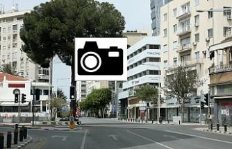 Güney Kıbrıs'tan boş sokak manzaraları