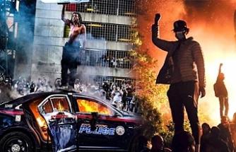 ABD'de siyahilerin isyanı durdurulamıyor! 25 kentte sokağa çıkma yasağı ilan edildi