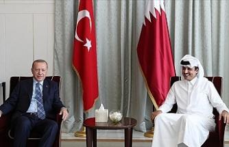 Erdoğan ile Katar Emiri Al Sani bir araya geldi