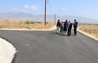 İçişleri Bakanı Baybars, Kırsal kesim arsaları alt yapı çalışmalarını inceledi