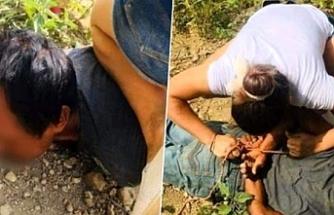 Küçük çocuğun yardım çığlığına koşan genç kadın, sapığı yakalayıp emniyete teslim etti