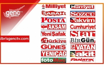 Türkiye  Gazetelerinin Manşetleri - 15 Temmuz 2020 Çarşamba