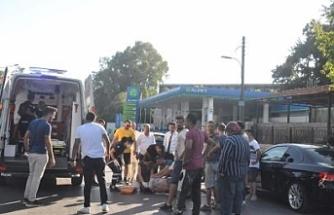 Bisiklet sürücüsü aracın çarpmasıyla yaralandı