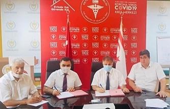 Kuzey Kıbrıs Türk Kızılayı, Sağlık Bakanlığı ile işbirliği protokolü imzaladı