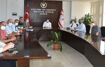 Bakan Oğuz, Zeysan başkan ve üyeleriyle görüştü