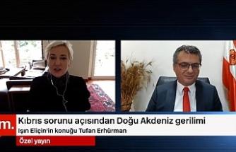 """Erhürman: """"Doğu Akdeniz'de uzlaşı Kıbrıs'ta çözümden geçer"""""""