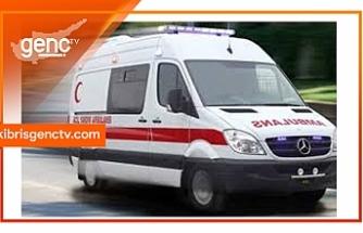 Motor kazası: 1 ağır yaralı