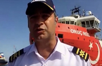 """MTA Oruç Reis gemisinin kaptanı Cankat Uzşen: """"Mavi Vatan'da görev yapmak gurur ve onur"""""""