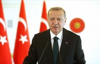 """Erdoğan: """"Türkiye'nin gösterdiği adil ve güçlü duruşa Kıbrıs Türkleri de sahip çıkmıştır"""""""