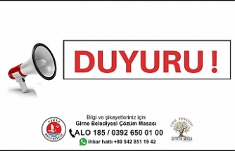 Girne'de trafiğe kapalı yol uyarısı