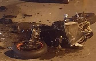 Motosiklet sürücüsü Oğuzhan Gül, olay yerinde yaşamını yitirdi