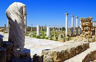 """Salamis Harabeleri'ne ait mermer parçasının satışı """"Ebay"""" platformundan kaldırıldı"""