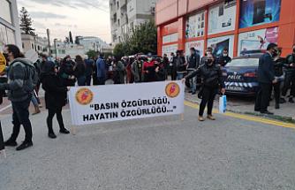 Basın örgütlerinden basın çalışanlarına destek eylemi