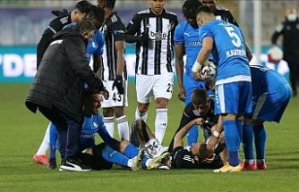 Beşiktaş'ta Cenk Tosun'un sağ dizinde tendon kopması tespit edildi