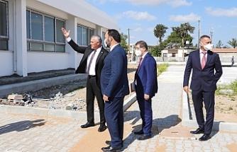 İskele Türk Maarif Koleji binasının inşaatında inceleme