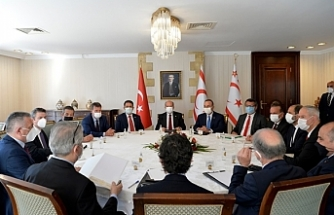 Meclis'te temsil edilen siyasi partilerin temsilcileri ile toplantı...TDP katılmadı