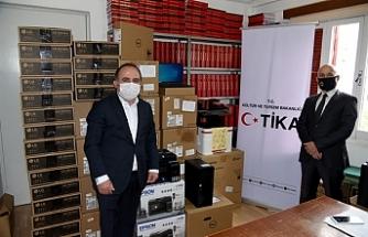TİKA'dan TAK'a teknik ekipman desteği